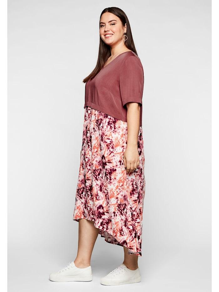 Sheego Kleid in 2-in-1-Optik, mit Alloverdruck