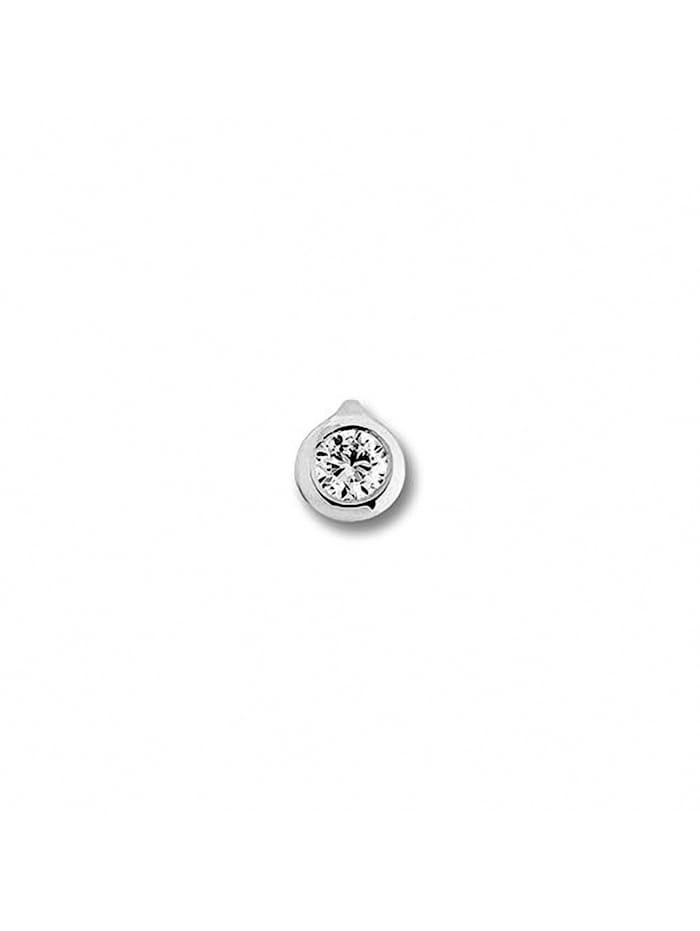 One Element Damen Schmuck Anhänger aus 585 Weißgold mit 0,15 ct Diamant, silber