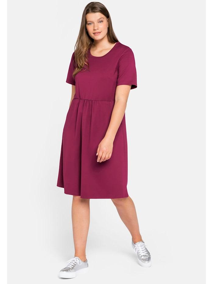 Sheego Jerseykleid mit Taschen, himbeere