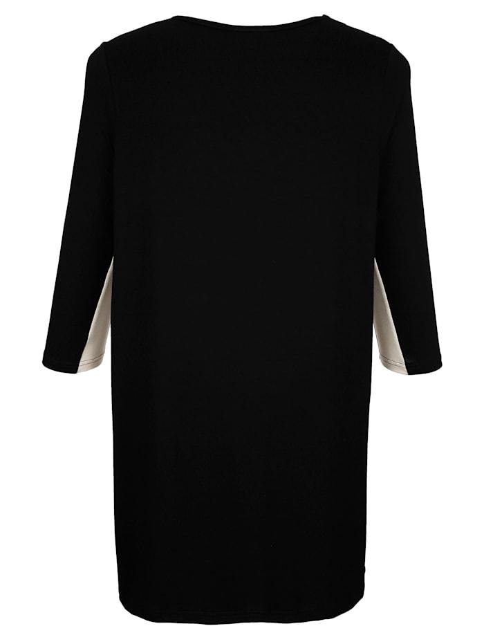 Longshirt mit streckendem V-Ausschnitt