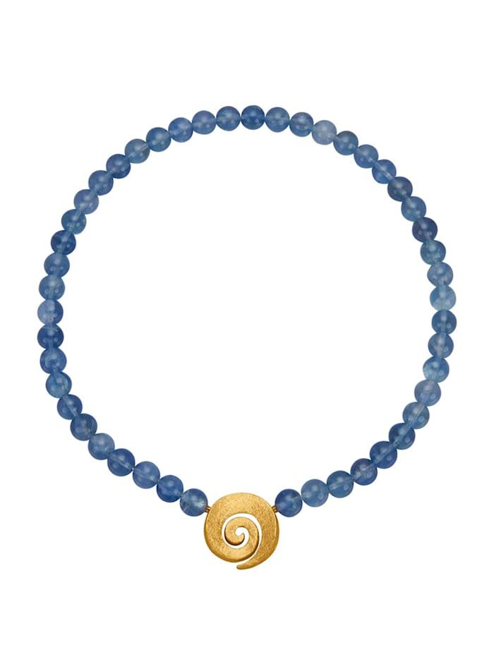 Diemer Farbstein Collier met fluoriet, Blauw