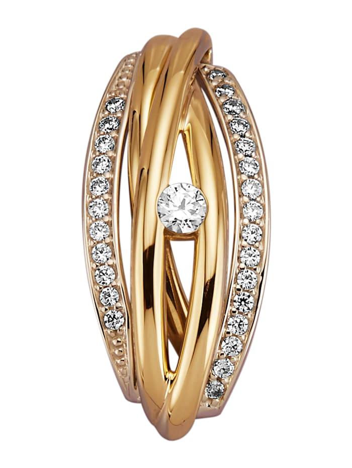 Diemer Diamant Anhänger mit 28 Brillanten, Gelbgoldfarben