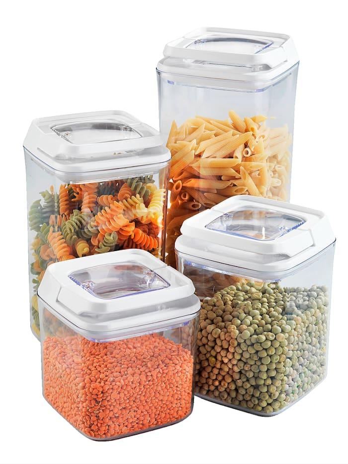 Wenko 4tlg. Aromaschutzdosen-Set, weiß/transparent