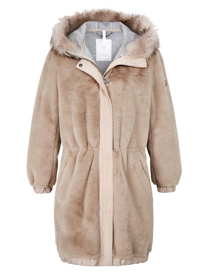 SPORTALM Fake Fur Mantel, Camel