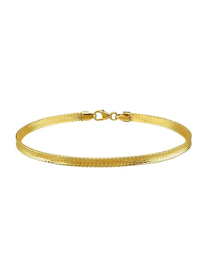 Mesh-armbånd i gull 375, Gullfarget