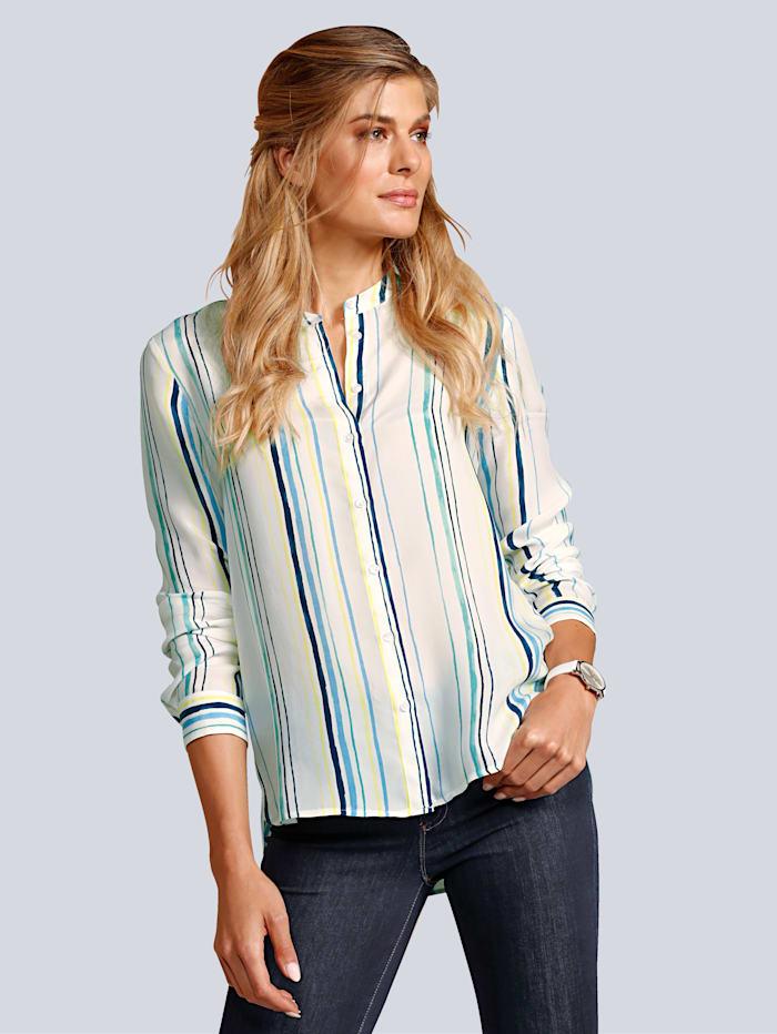 BRAX Bluse mit längs verlaufenden Streifen, Off-white