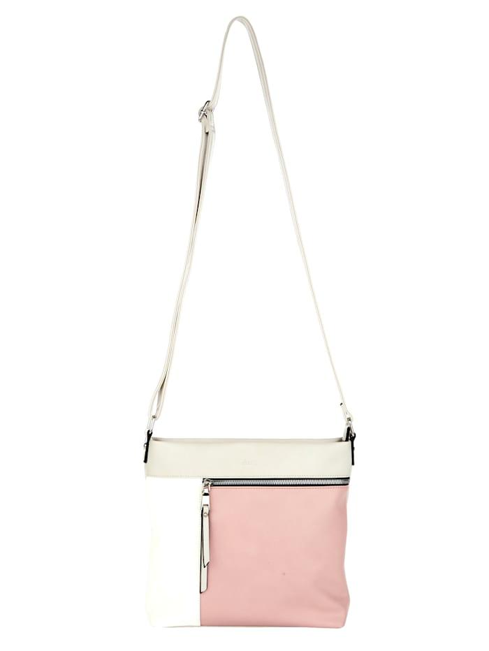 Sina Jo Umhängetasche in schöner Farbkombination, rosé/weiß