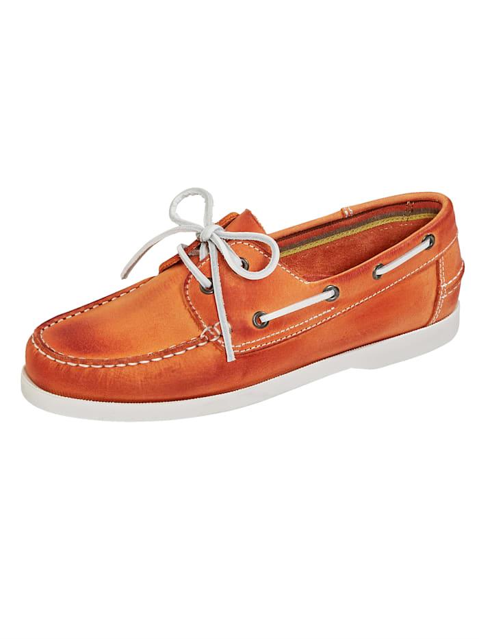 BABISTA Šněrovací obuv v námořnickém vzhledu, Oranžová