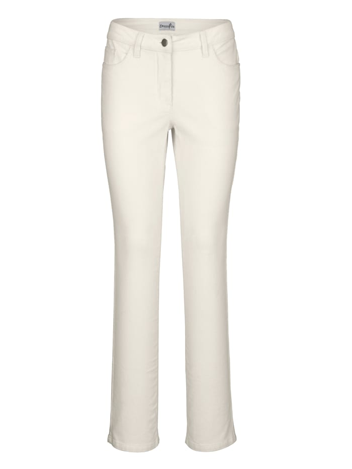 Dress In Pantalon Laura straight, Blanc cassé