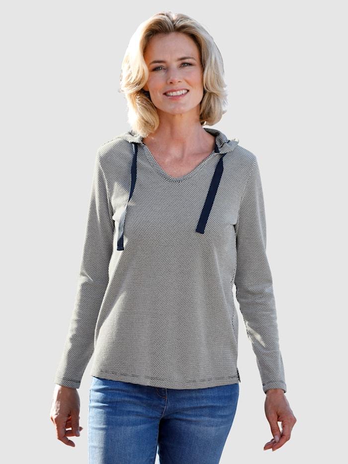 Dress In Sweatshirt mit Kapuze, Marineblau/Ecru