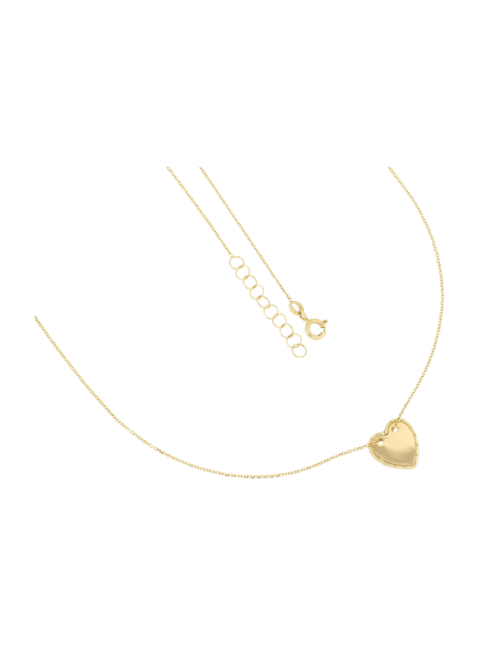Grazielli Collier avec pendentif Coeur, Coloris or jaune
