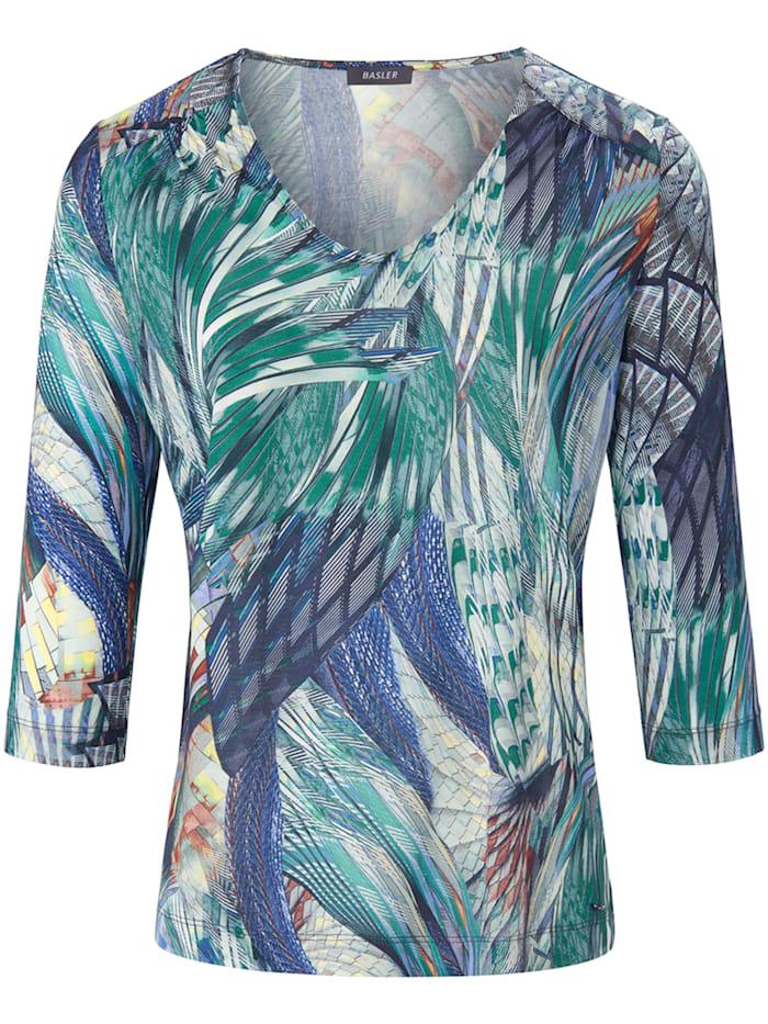 Basler Shirt mit Allover-Print und ¾-Ärmeln, ocean multicolour