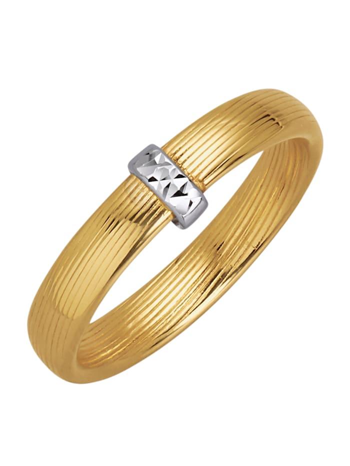 Tvåfärgad ring, Guldfärgad