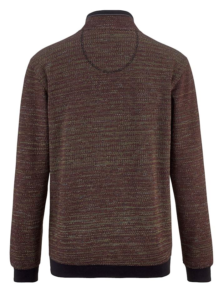 Sweat-shirt en coton ennobli mélangé à microfibre