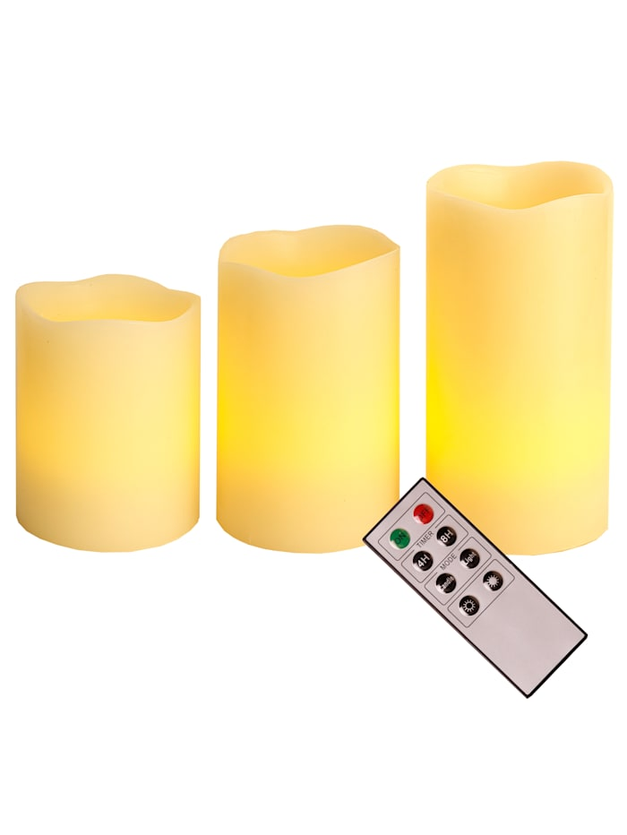 Set van 3 led-kaarsen