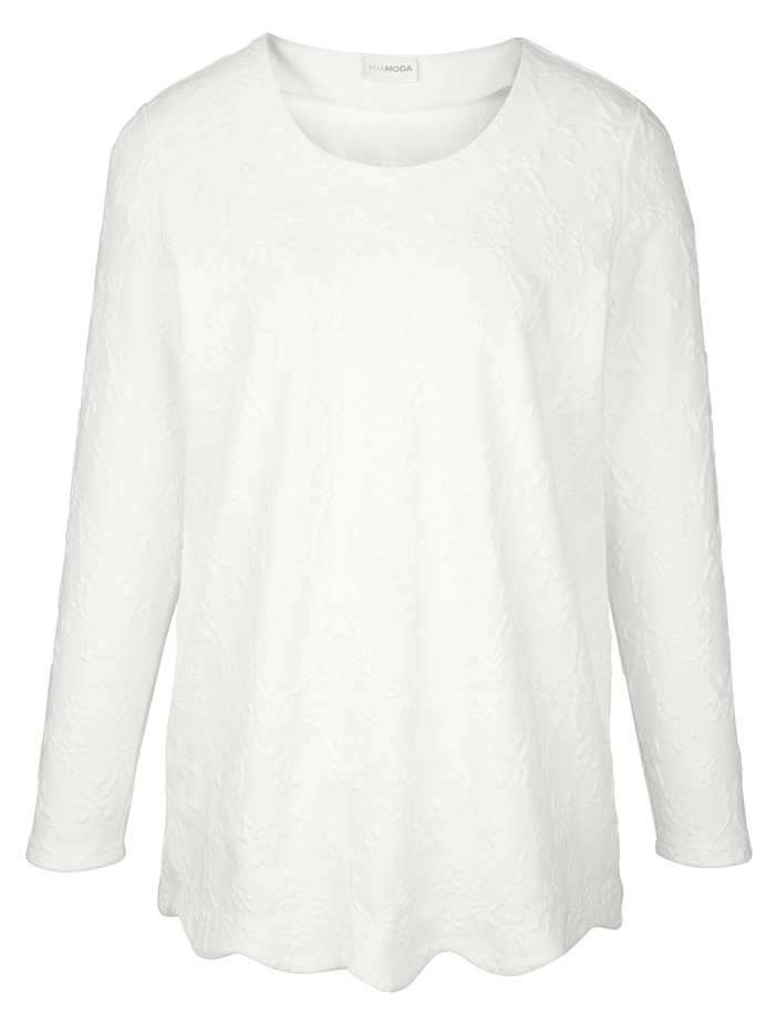Sweatshirt aus strukturiertem Jerseyjacquard