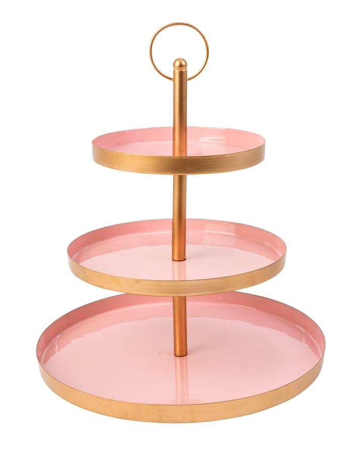 IMPRESSIONEN living Deko-Etagere, rosé/champagnerfarben
