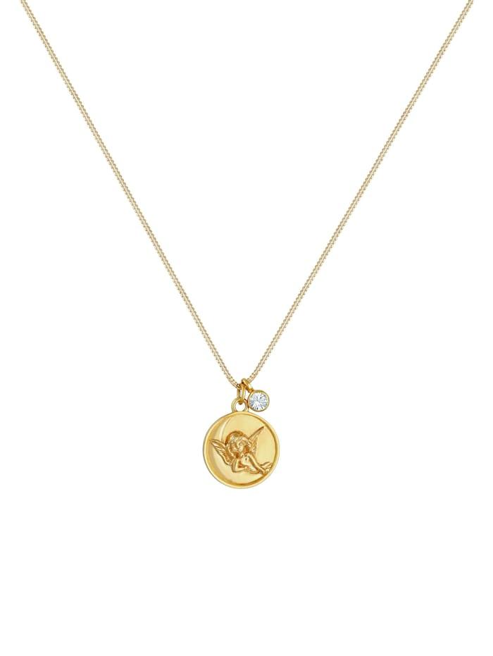 Halskette Engel Plättchen Kristall 925 Silber