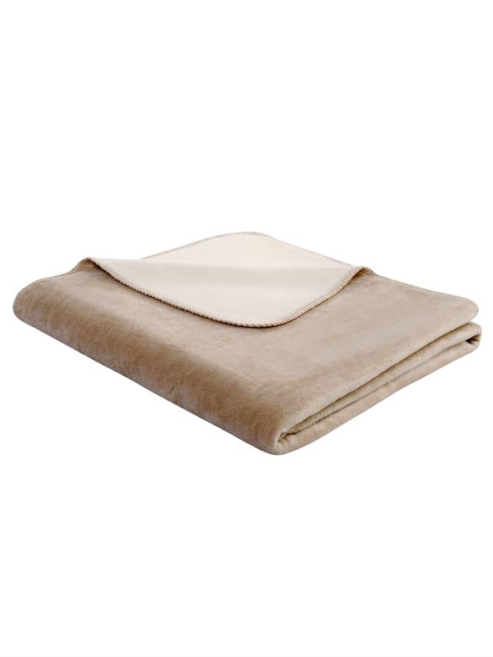 biederlack Wohndecke 'Duo Cotton', Braun