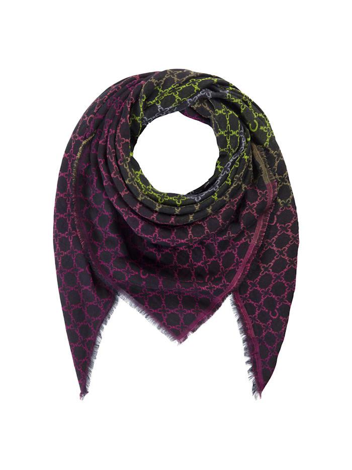 Codello Logo-Tuch aus fein fließender Viskose, dark violet
