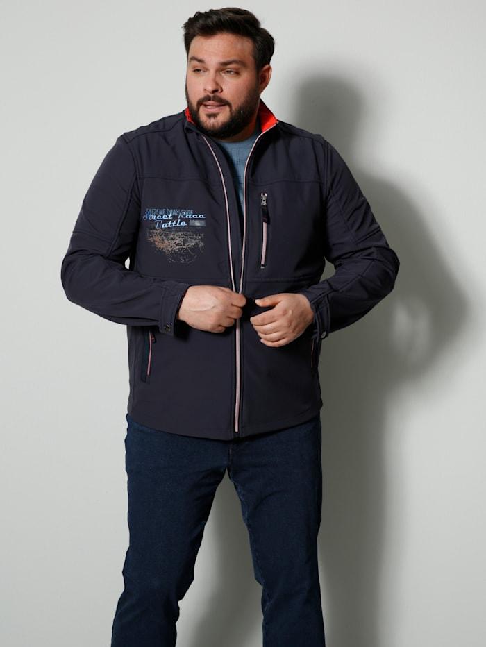 Men Plus Softshelljacke Spezialschnitt, Marineblau/Rost