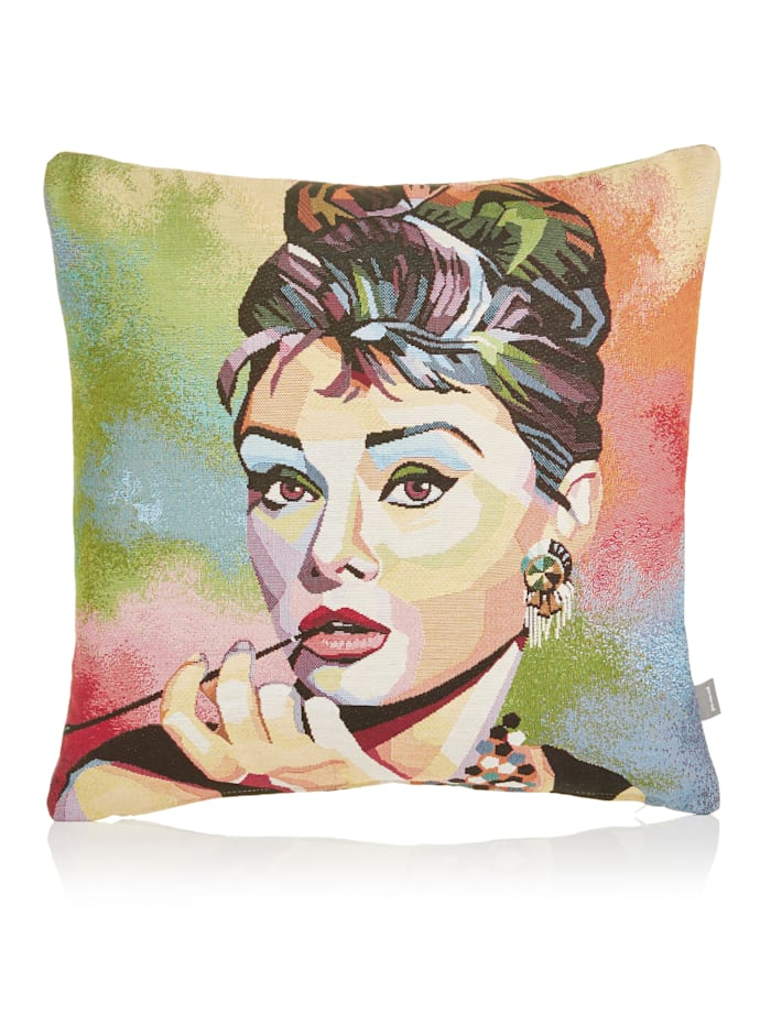 Pad Kissenhülle, Audrey Hepburn, multicolor