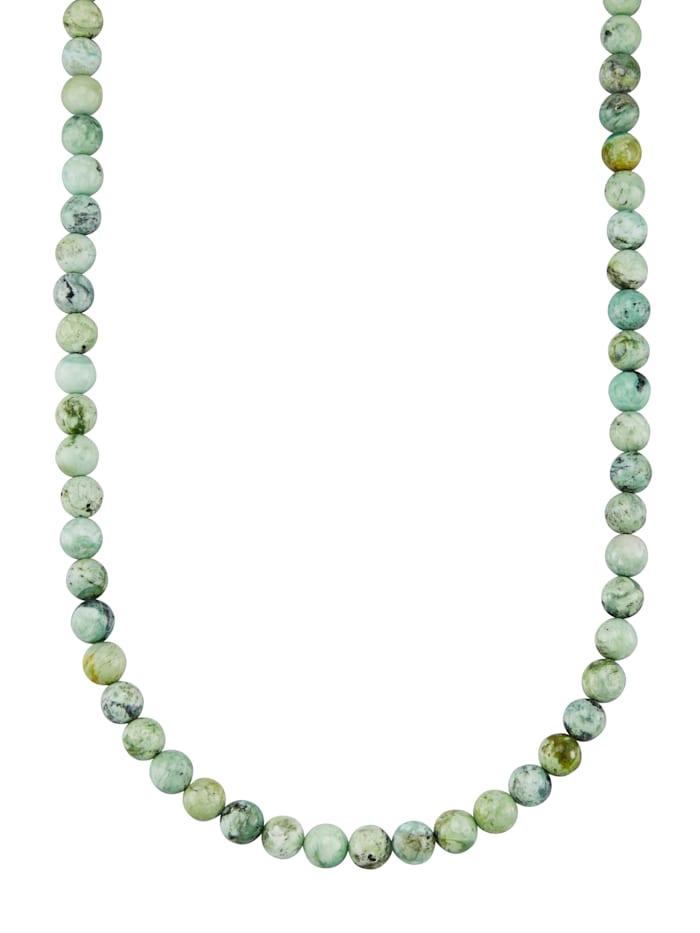 Halskette in Silber 925, Grün