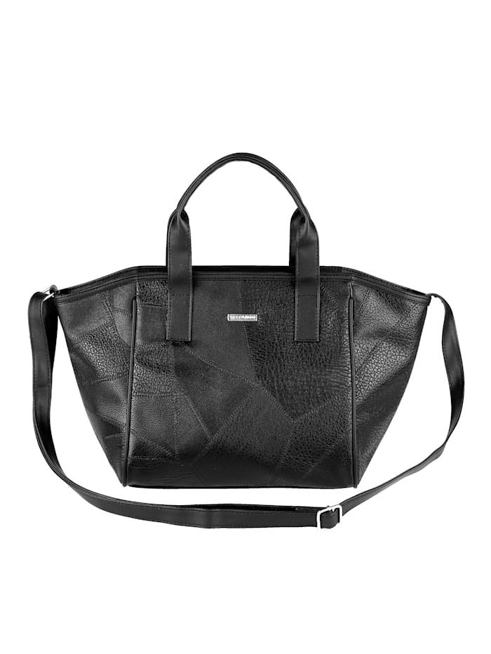 Handtasche in leichter Patch-Optik