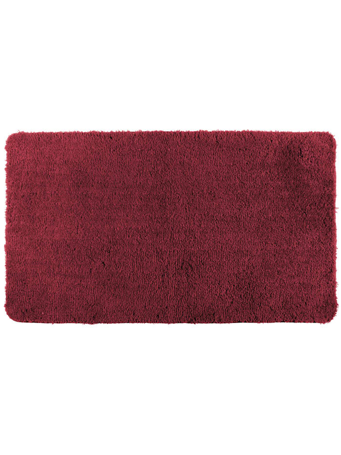 Wenko Badteppich Belize Chili 55 x 65 cm, Mikrofaser, Polyester/Mikrofaser: Rot