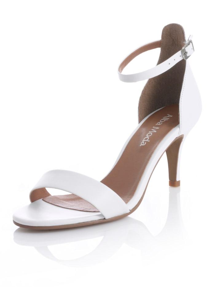 Alba Moda Sandalette in klassischer Form, Weiß