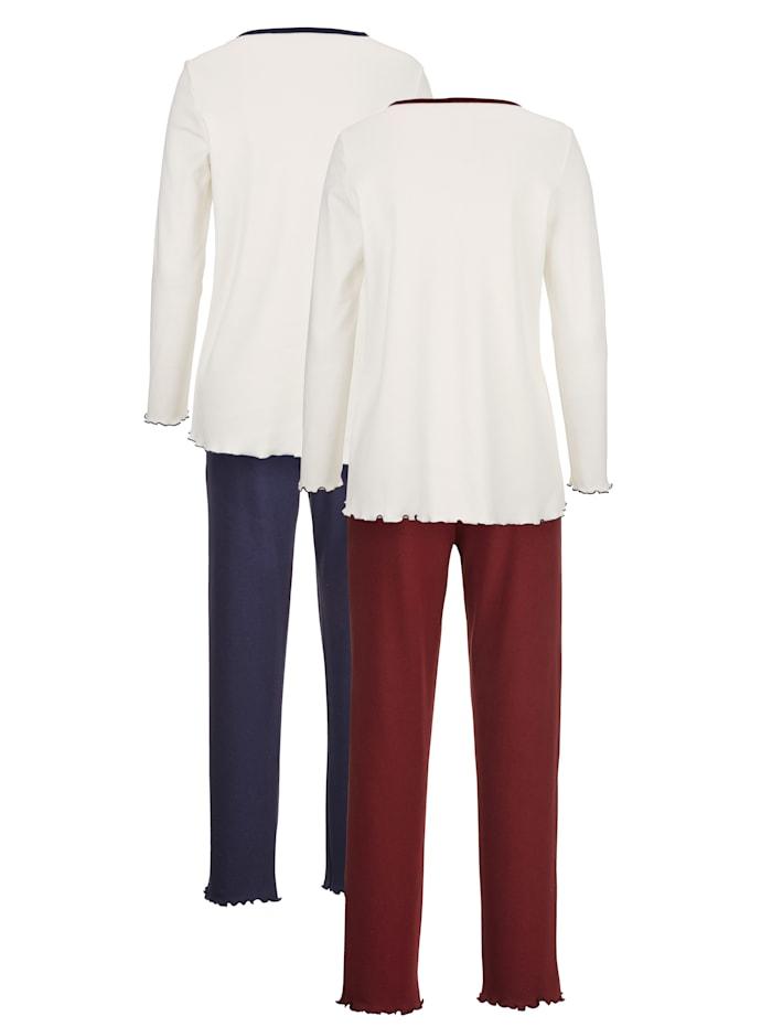 Schlafanzug mit hübschem Druckmotiv 2er Pack