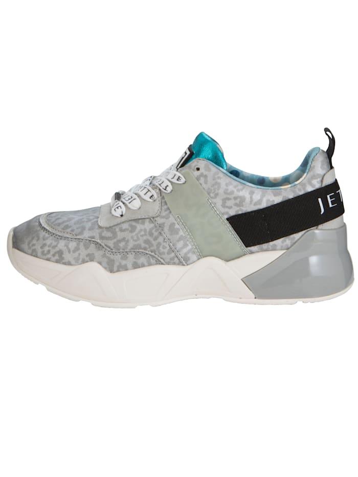 Sneaker met subtiele animalprint