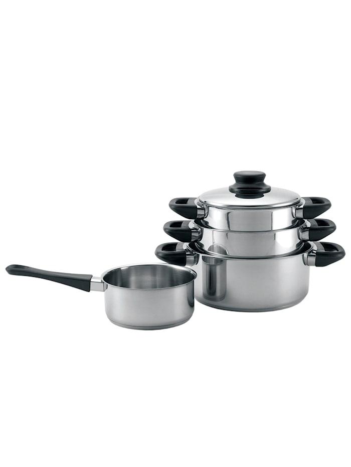 Neuetischkultur Kochtopfset 4-teilig Rostfrei, Silber