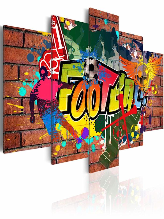 artgeist Wandbild Fußball (Graffiti), mehrfarbig