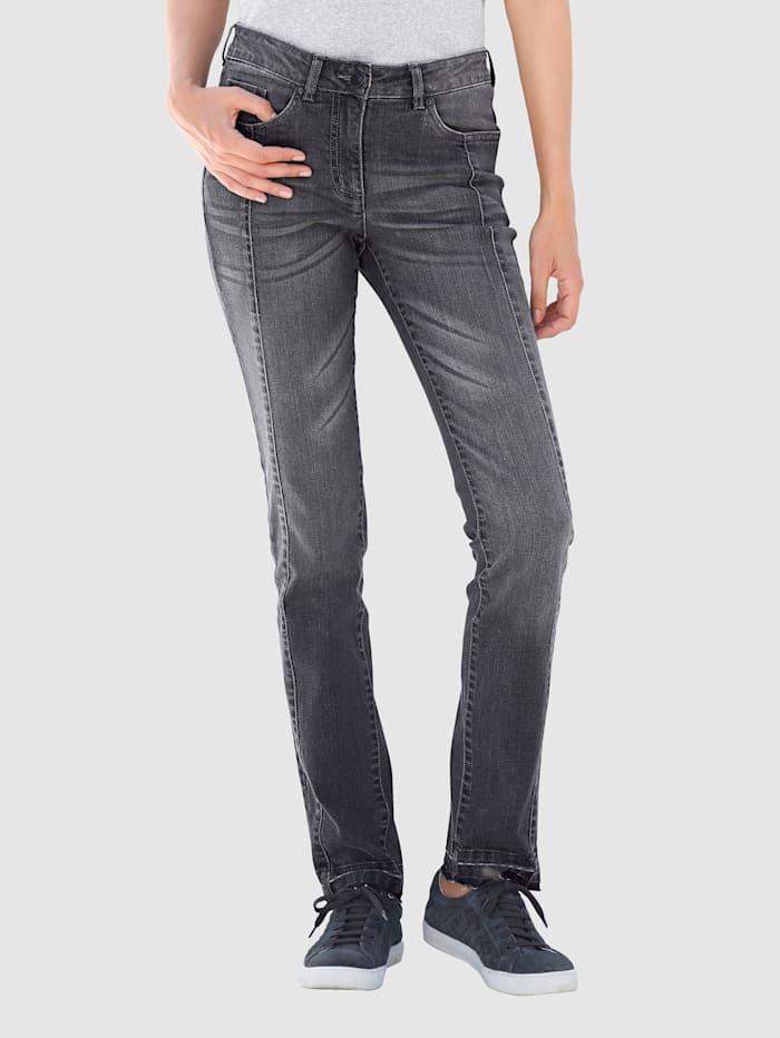 Jeans met modieuze wassing