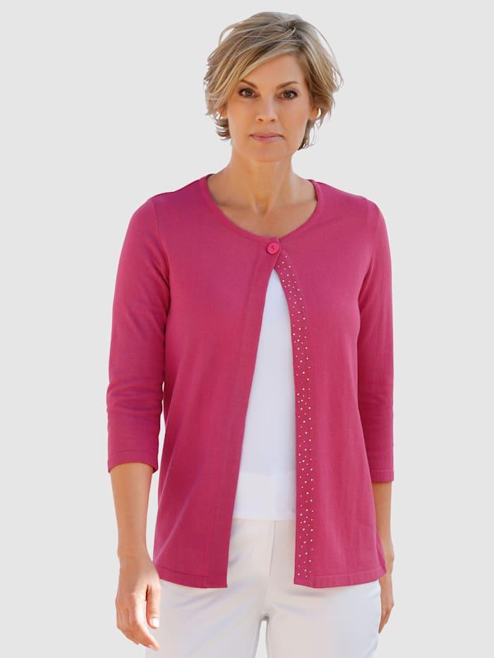 Paola Vest met zilverkleurige steentjes, Pink