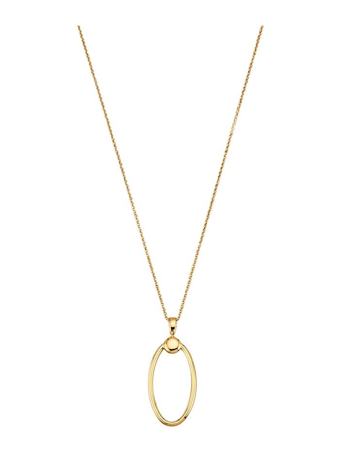 Amara Or Pendentif + chaîne en or jaune 585, Coloris or jaune