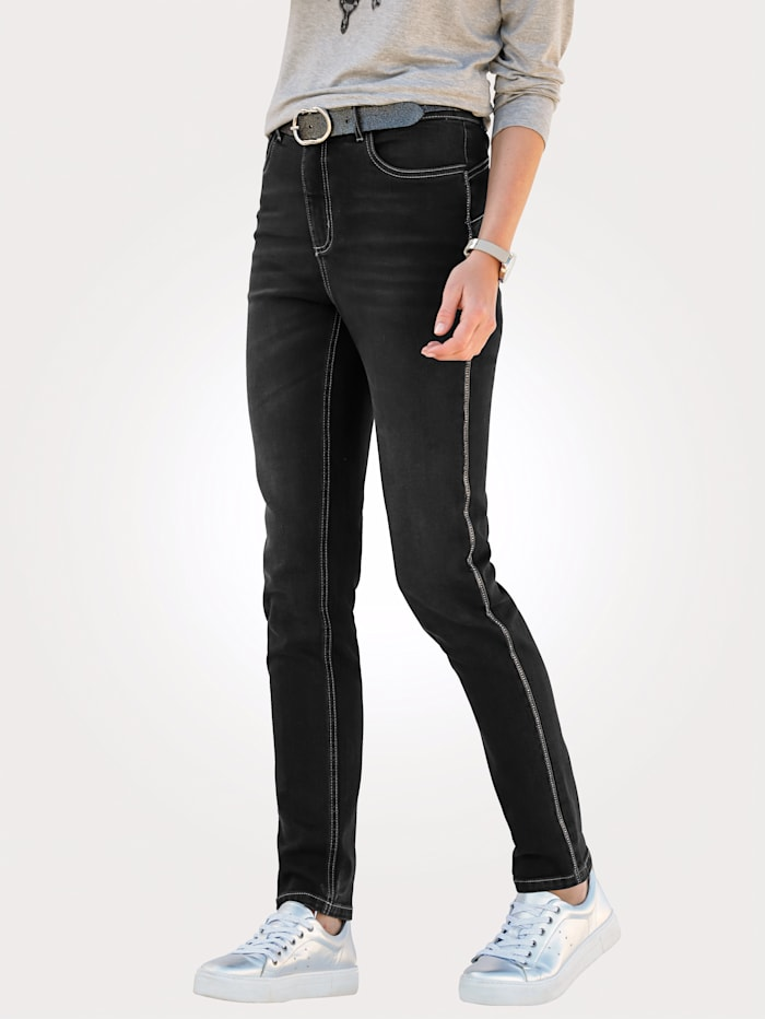 Jeans with side chain
