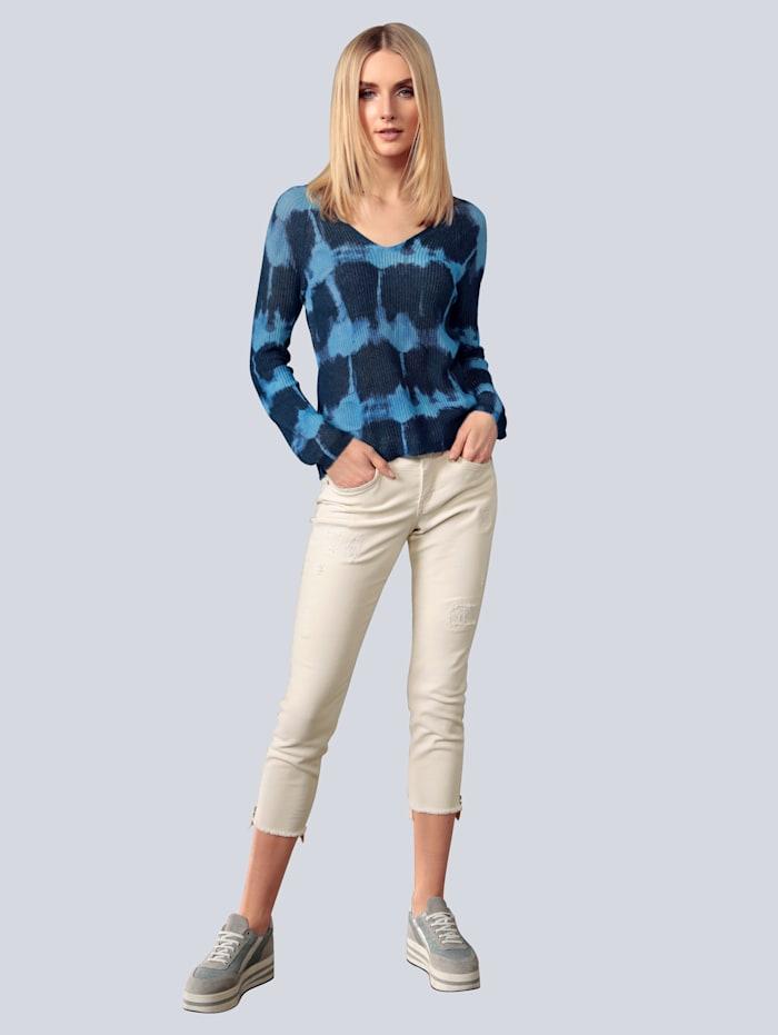 Pullover im Batikdruck