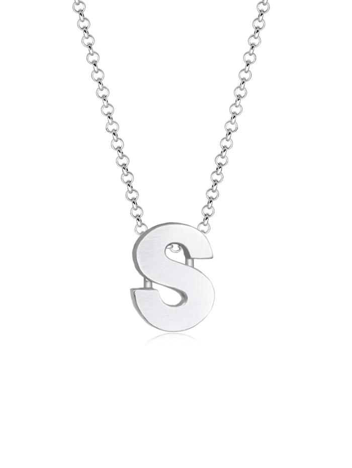 Elli Halskette Femme Pendentif Lettre S Initiale - (925/1000) Argent, Silber