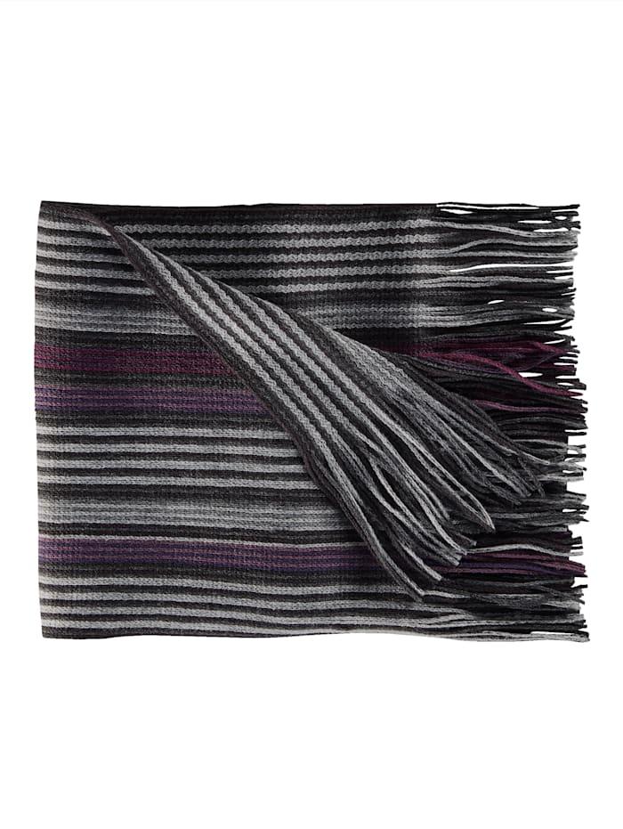 BABISTA Sjaal met franjes, zwart/paars
