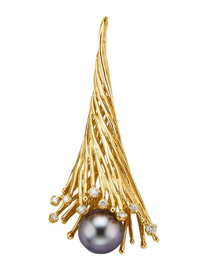 Amara Perles Broche/pendentif, Gris