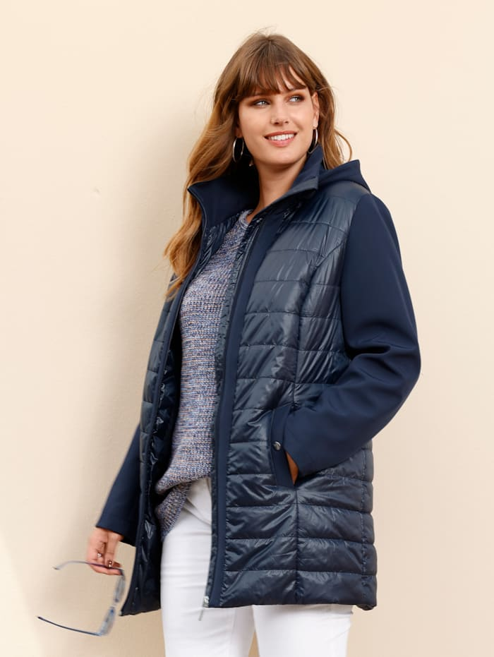 MIAMODA Jacke mit Ärmeln aus Softshell, Marineblau