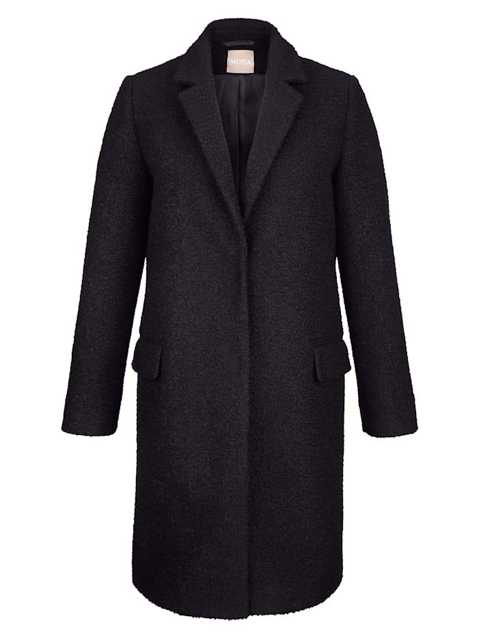Coat in a bouclé finish