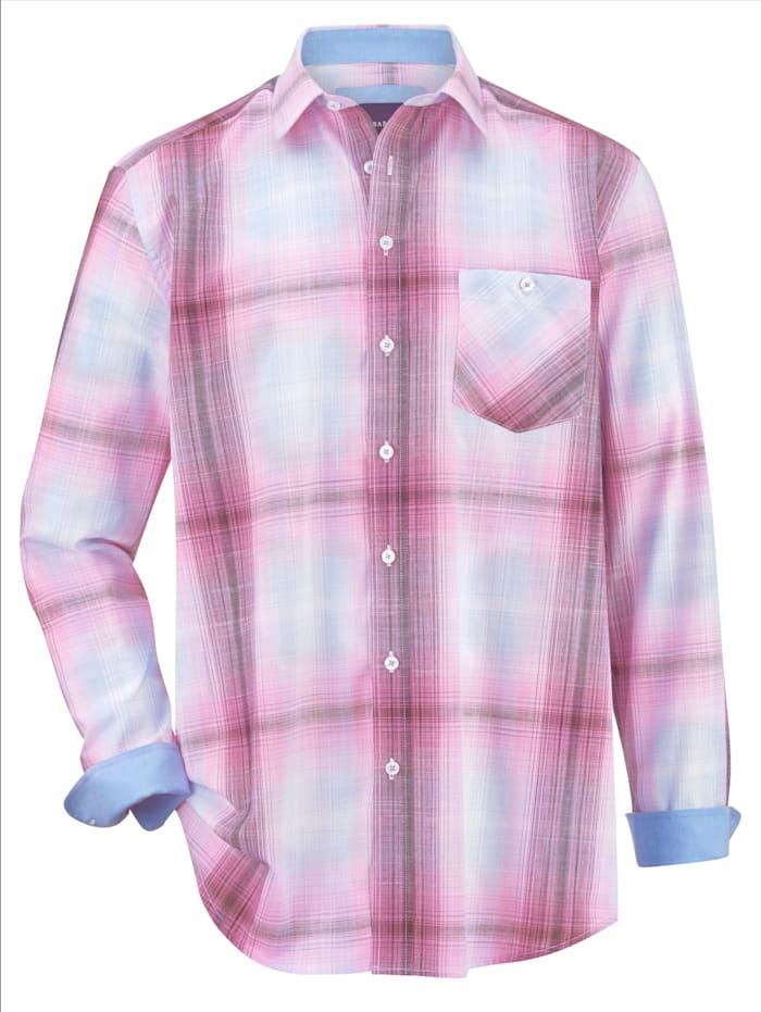 BABISTA Overhemd van zuiver katoen, Berry/Blauw