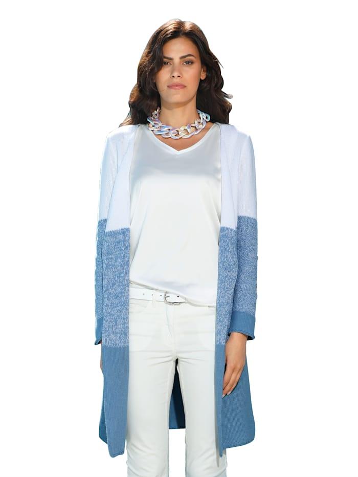 AMY VERMONT Vest met kleurverloop, Wit/Blauw