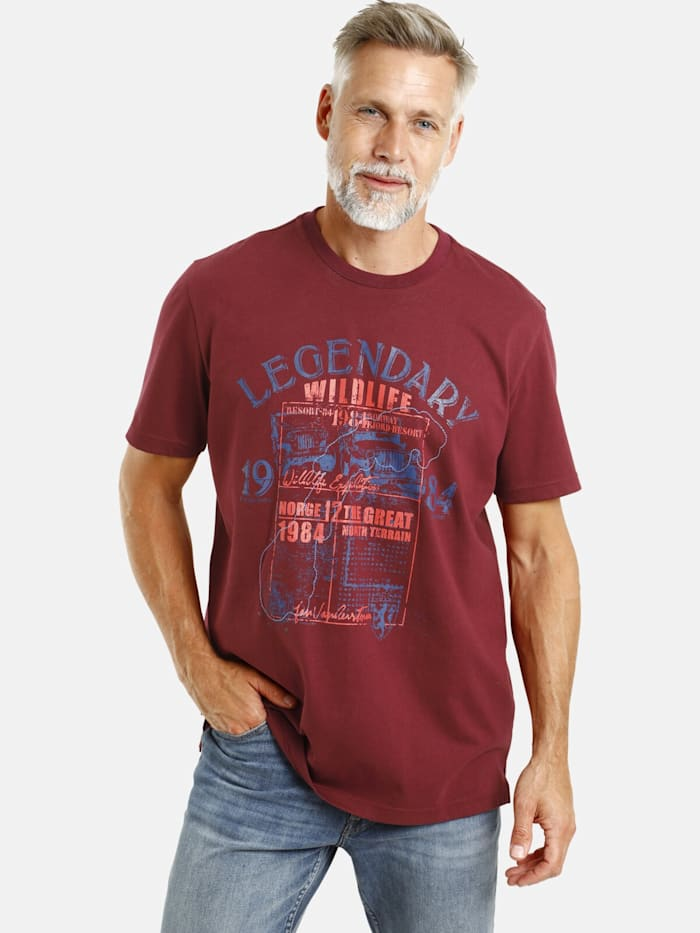 Jan Vanderstorm Jan Vanderstorm T-Shirt FRIDHELM, dunkelrot