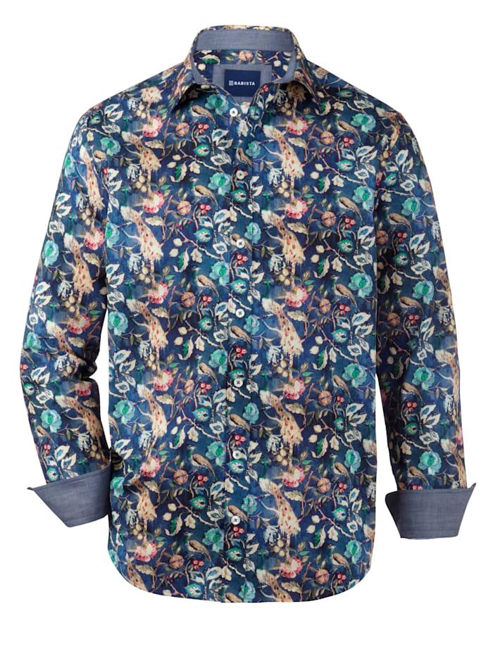 BABISTA Hemd mit floralem Druckmuster, Blau