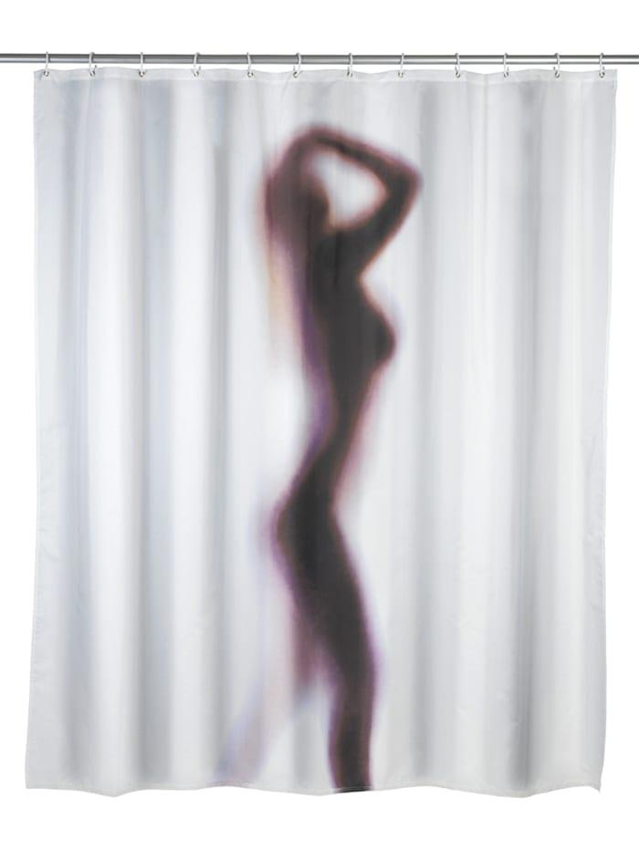 Wenko Anti-Schimmel Duschvorhang Silhouette, waschbar, Mehrfarbig