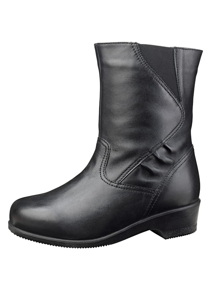 Naturläufer Ankle boots with wide elasticated insert, Black